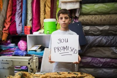 Syrian refugee children in Turkey making clothes for UK companies says BBC investigation