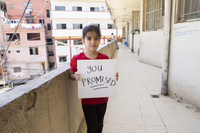 Send a message to world leaders: #YouPromised to get Syrian children into school