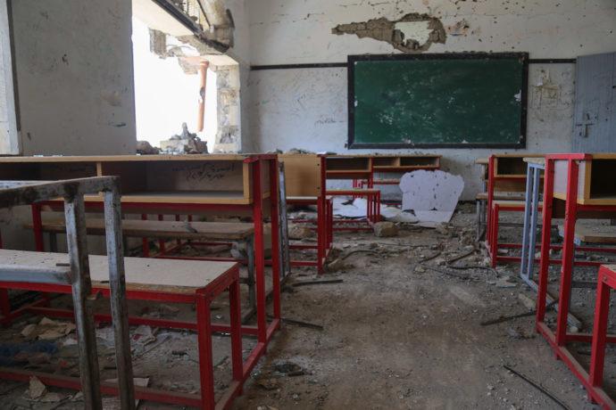 Two children among five killed in air strike near school in Yemen