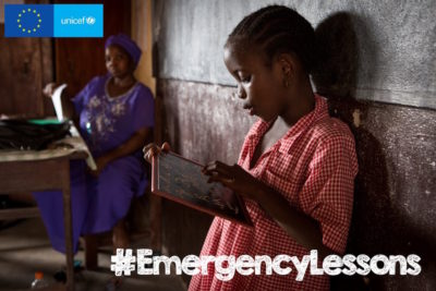 Young people learn why school is as vital as food and medicine for children in emergencies