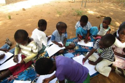 See the world through a child's eyes ... young children in Malawi learn through play and drawing