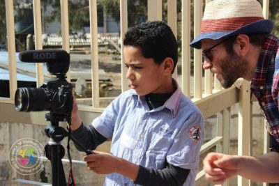 Syrian school children use film-making to escape from life in Lebanese refugee camp