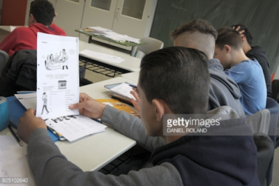 Refugee students and teachers learn how to cope with life in Germany