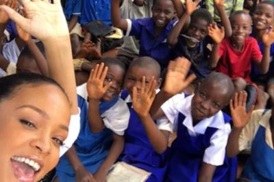 Rihanna's humanitarian work 'helps children shine bright like a diamond'