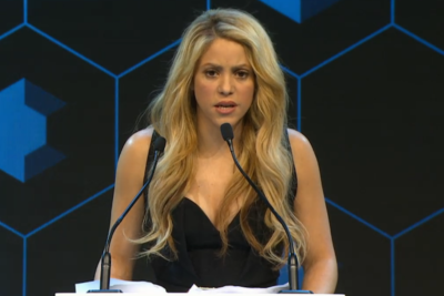 Early years champion Shakira tells world leaders: 'Today's babies will drive tomorrow's business'