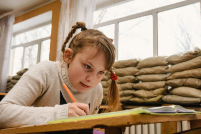 Education and trauma help for children living in Ukraine war zone