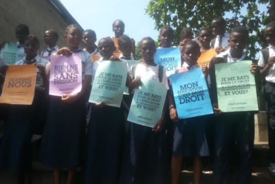 Taking the #UpForSchool message to DRC school