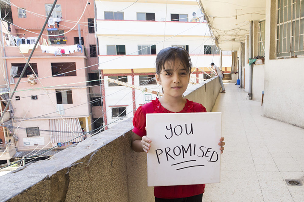 #YouPromised: Send Hadeel's message to world leaders