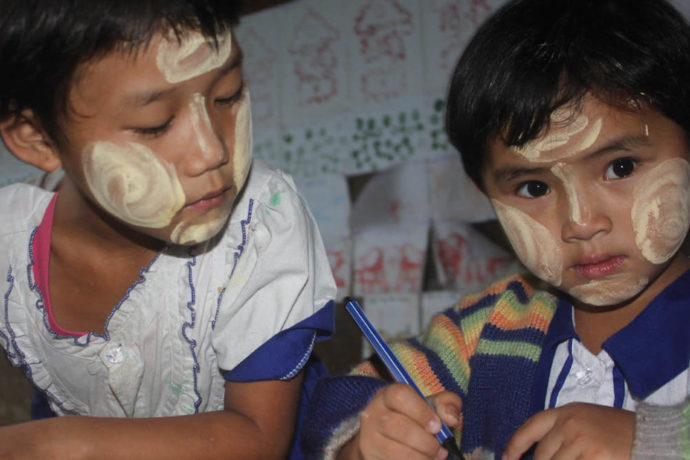Bringing fun and learning to traumatised young children in Myanmar camps