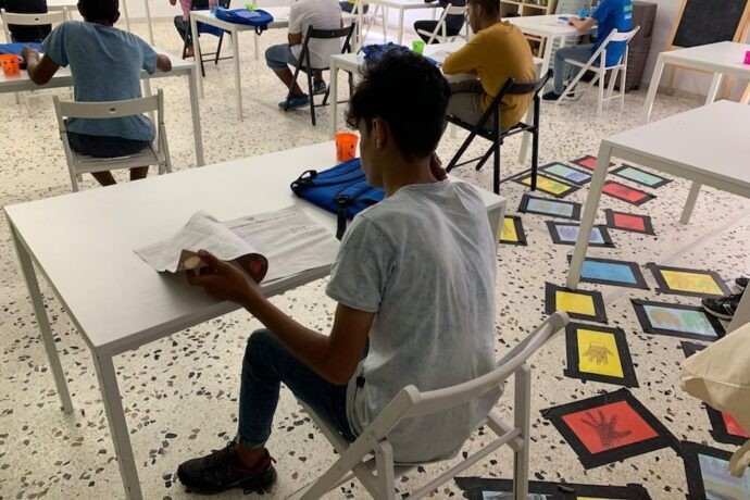 Refugee students happy to be back at school on Greek islands