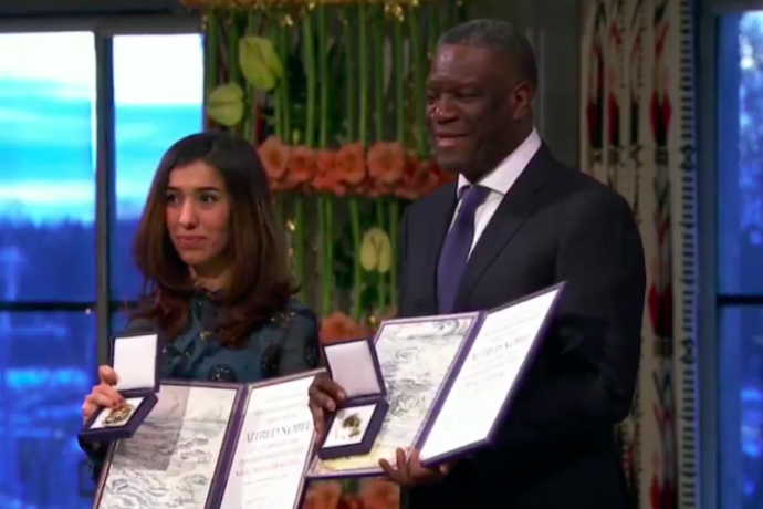 Nobel Peace Prize winners demand end to sexual violence as a weapon of war