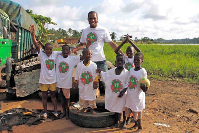 Football legend Didier Drogba launches a new school in Ivory Coast