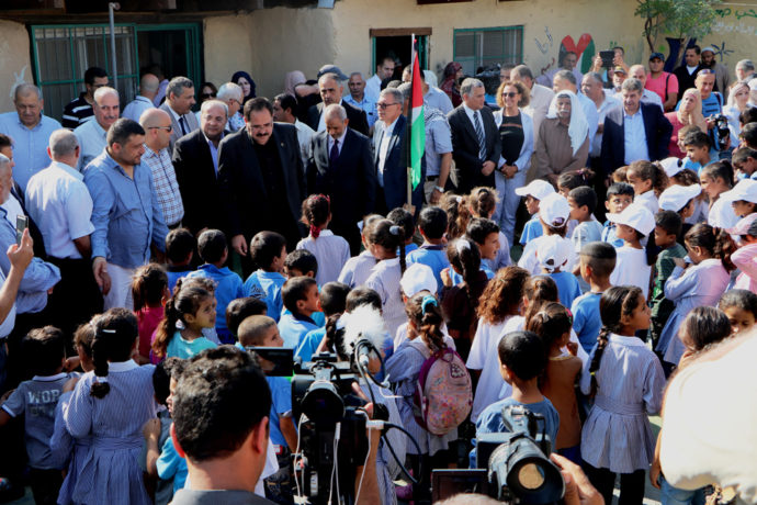 Palestinian students start their school year early to stop demolition