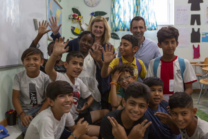 Theirworld delivers hope to children stuck in squalid refugee camps on Greek islands