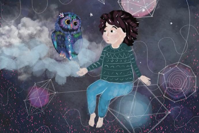 Ugi the owl tells vulnerable children not to be scared during lockdown