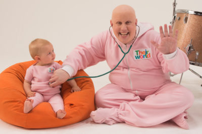 Comedian Matt Lucas acts like a big baby to support Theirworld's #5for5 campaign