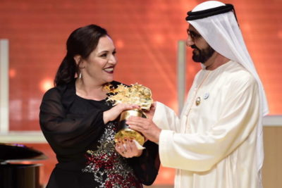 The art of success: British teacher wins $1m global prize for her work with inner-city children