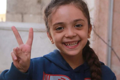 I can go to school now and not be scared says Bana Alabed, the Syrian girl who live-tweeted from Aleppo