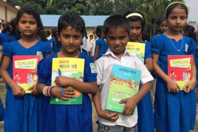 Bangladeshi schoolchildren get 354m free textbooks on the first day of 2018