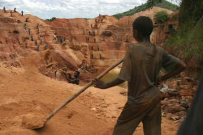 Child labourers as young as six dig for cobalt to power electric cars and phones