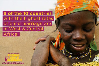 Summit pushes leaders to end child marriage in West and Central Africa