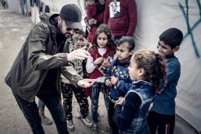 Watch magician Dynamo's powerful film on broken education promises to Syrian refugee children