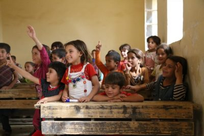 Humanitarian aid for education should be doubled says UN envoy Gordon Brown