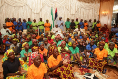 No rest until all Chibok schoolgirls are found says Nigerian president after 82 are freed