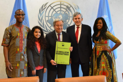 Youth activists tell UN chief: make the impossible possible and get millions of children into school