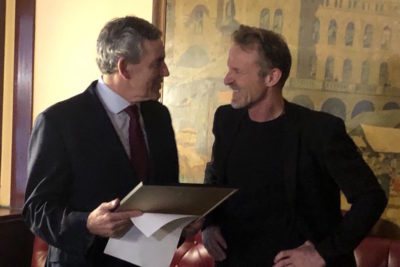 Gordon Brown wins Jo Nesbø award and gives prize money to Theirworld