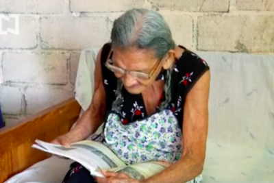 Mexican woman fulfils a dream by starting high school at the age of 96