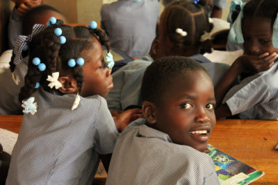 Lack of space and costs means 400,000 Haitian children miss out on school