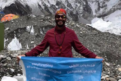 One-legged climber treks to Mount Everest to help save Palestinian school