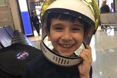 Brazilian schoolboy on a space mission to encourage other children to learn