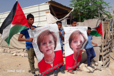 Save our school: Bedouin children's plea to Angela Merkel