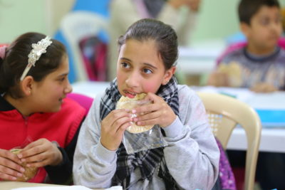 Free school meals get more Syrian refugee children into the classroom