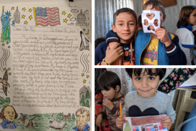 'I release my pain': Syrian refugees and New York children write letters to each other