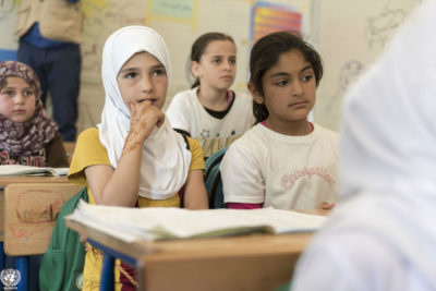 #YouPromised - but 690,000 Syrian refugee children are still out of school and donor funding has dropped