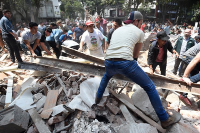 Dozens of children feared dead as school is destroyed by Mexico earthquake