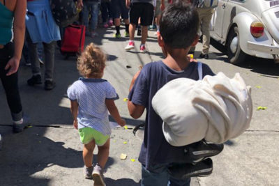 Hopes of better education for their children is driving force for many in refugee convoy