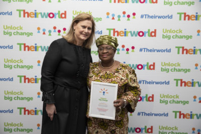 'Mover, shaker and partnership builder' ... Theirworld honours Ngozi Okonjo-Iweala