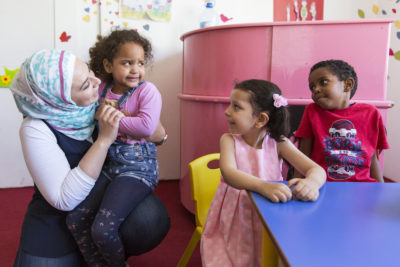 """""""With children coming from a war zone, we work hard to integrate them into classes and build their friendships"""""""