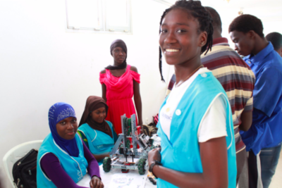 West African schoolgirls show their talents at robotics contest