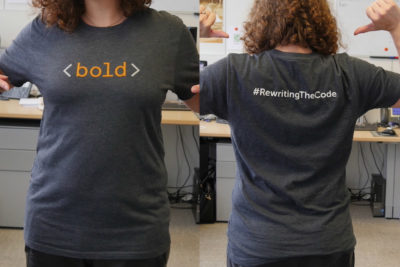 Special T-shirt to raise funds for #RewritingTheCode campaign