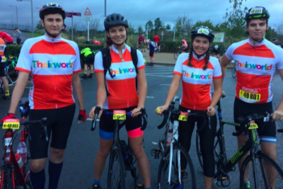 Theirworld team cycles 100 miles to raise funds for our work with children