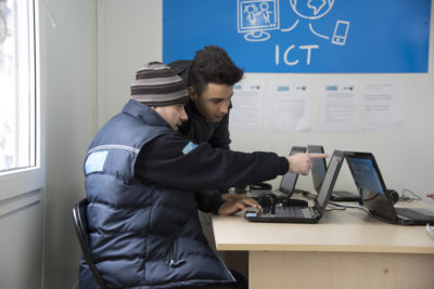 ICT Corners help refugee children take education courses and keep in touch with their families