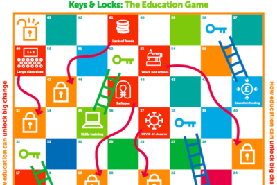 Theirworld launches new Snakes and Ladders game to spotlight global education crisis