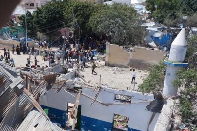 Children injured as suicide bombing causes Somali school to collapse