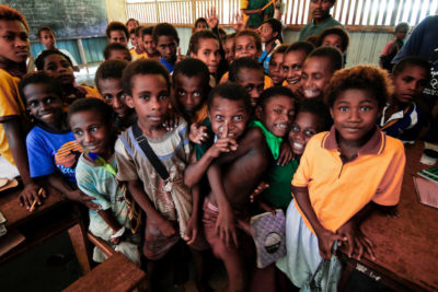 Emergency fund helps children go back to school after Papua New Guinea earthquake