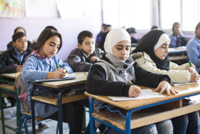 Syrian parents who choose to send their children to crowded classrooms